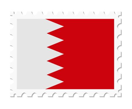 bahrain: stamp flag bahrain