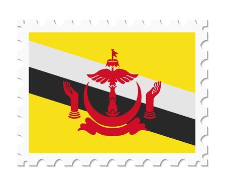 stamp flag brunei