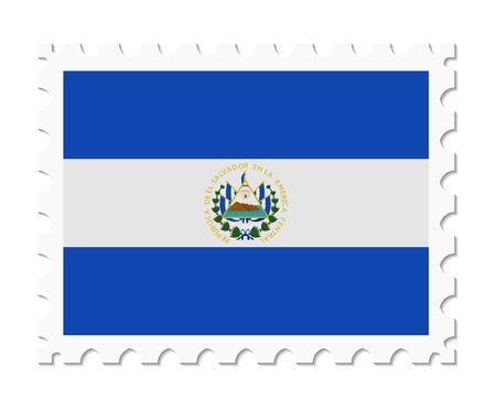 el: stamp flag el salvador Illustration