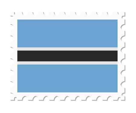 botswana: stamp flag botswana