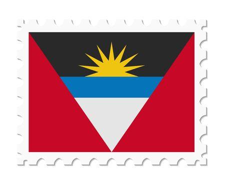 antigua and barbuda: stamp flag antigua and barbuda