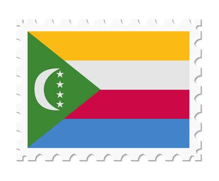 comoros: stamp flag comoros