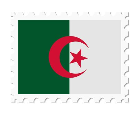algeria: stamp flag algeria Illustration