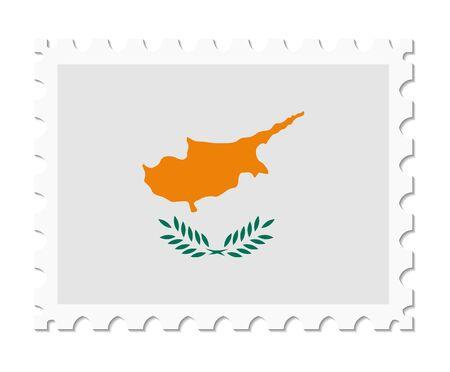 cyprus: stamp flag cyprus