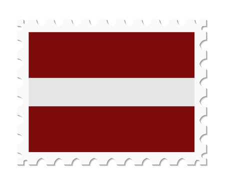 latvia: stamp flag latvia