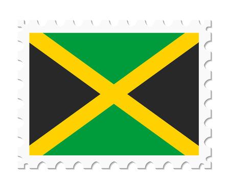 jamaica: stamp flag jamaica