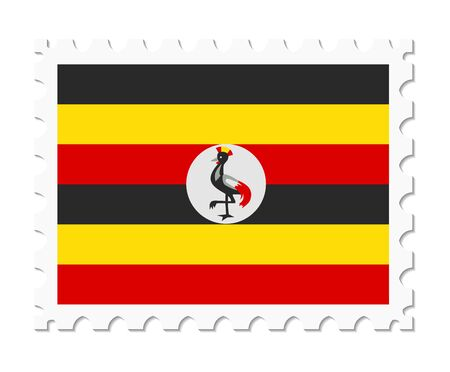 stamp flag uganda Illustration