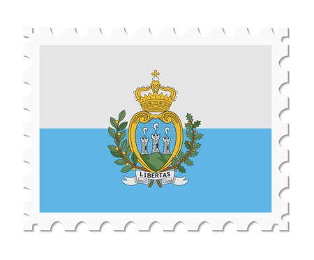 stamp flag san marino