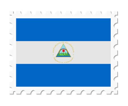 nicaragua: stamp flag nicaragua