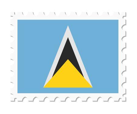 saint: stamp flag saint lucia