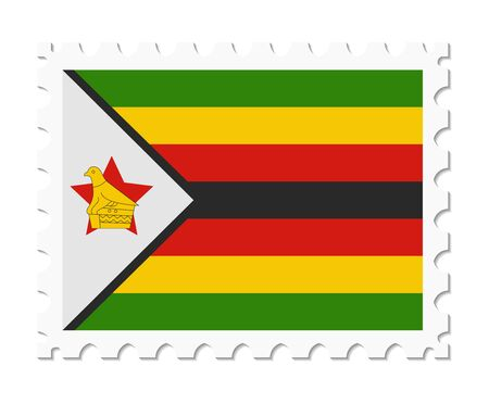 zimbabwe: bandera sello Zimbabwe