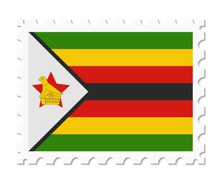 stamp flag zimbabwe