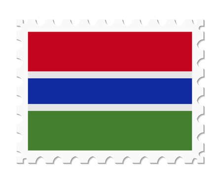 gambia: stamp flag gambia