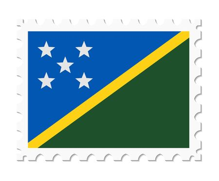 adhere: stamp flag solomon islands