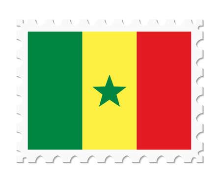 senegal: stamp flag senegal