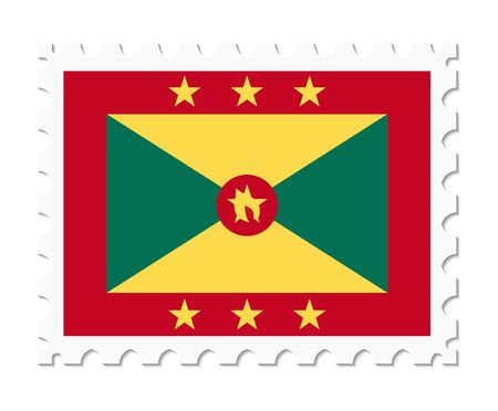grenada: stamp flag grenada Illustration