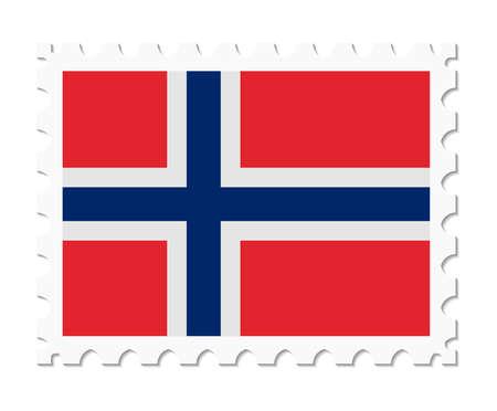 norway flag: stamp flag norway Illustration