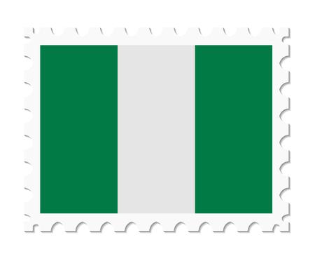 nigeria: stamp flag nigeria Illustration