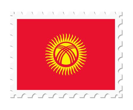 kyrgyzstan: bandera de sello de Kirguistán