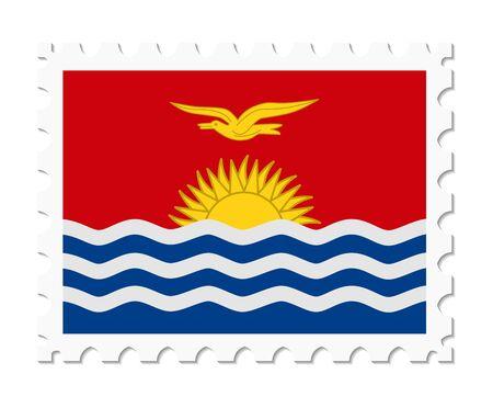 kiribati: stamp flag kiribati