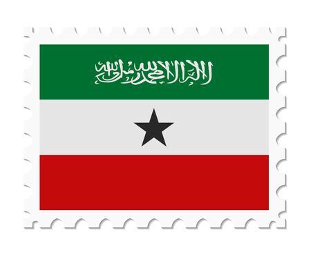 somaliland: stamp flag somaliland Illustration