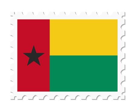 guinea bissau: stamp flag guinea bissau