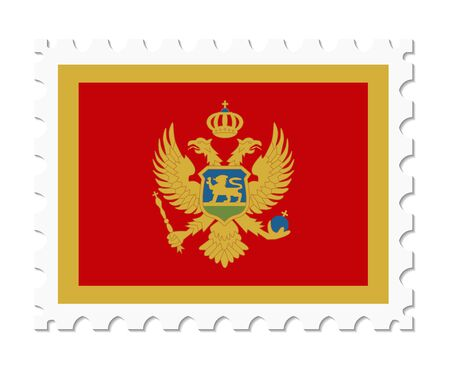 montenegro: stamp flag montenegro Illustration