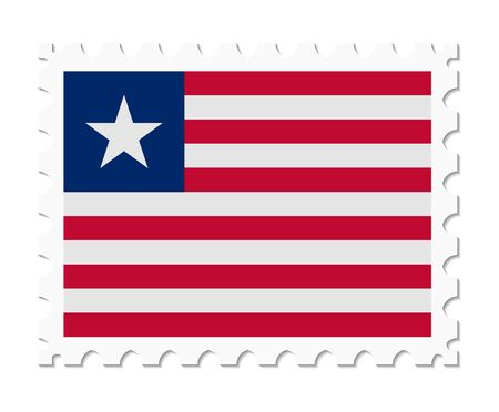liberia: stamp flag liberia