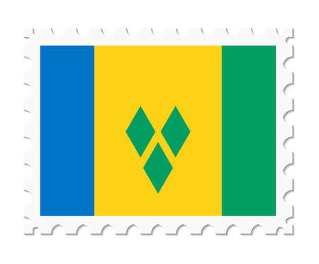 saint: stamp flag saint vincent