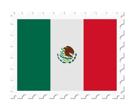 adhere: stamp flag mexico