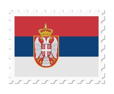 serbia: stamp flag serbia Illustration