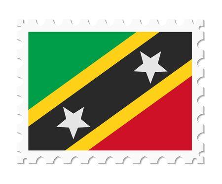 saint: stamp flag saint kitts