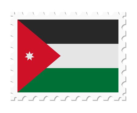 jordan: stamp flag jordan Illustration