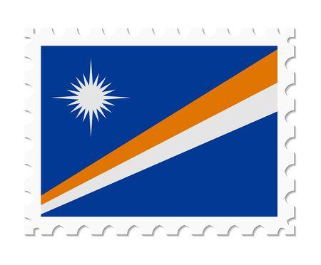 marshall: stamp flag marshall islands