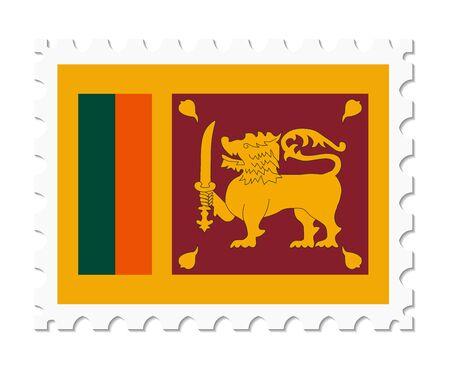 sri lanka: stamp flag sri lanka