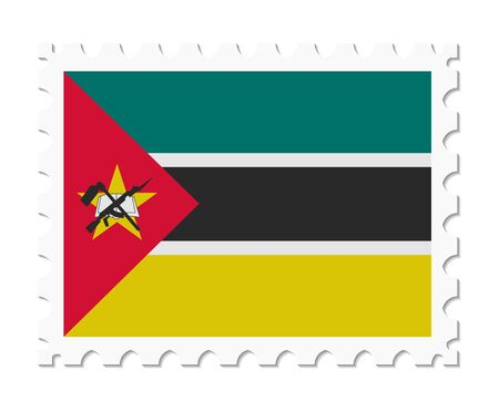 adhere: stamp flag mozambique