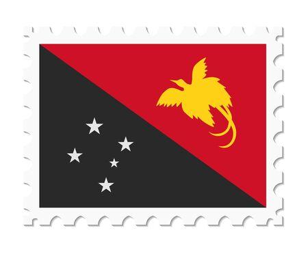 papua new guinea: stamp flag papua new guinea