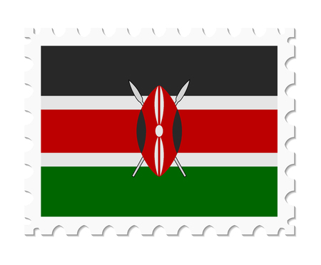 kenya: stamp flag kenya