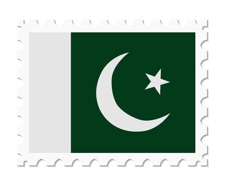 flag of pakistan: stamp flag pakistan