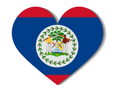 belize: heart flag belize