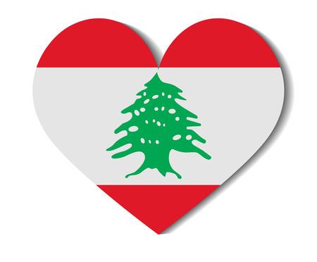 heart flag lebanon