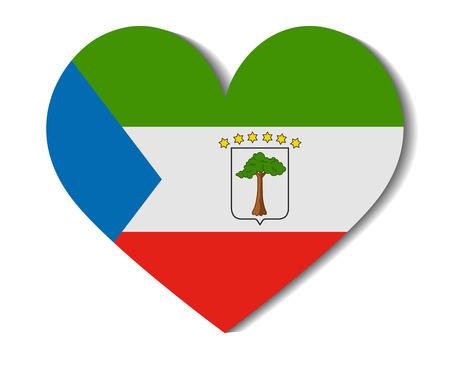 equatorial guinea: heart flag equatorial guinea