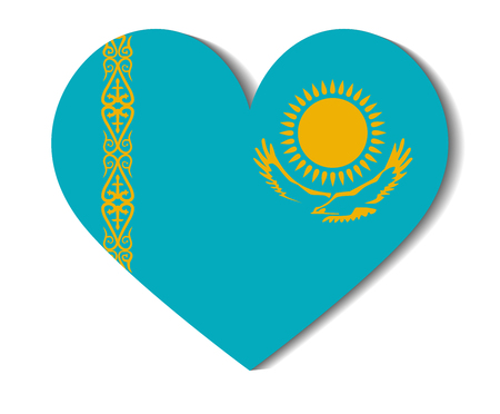 kazakhstan: heart flag kazakhstan