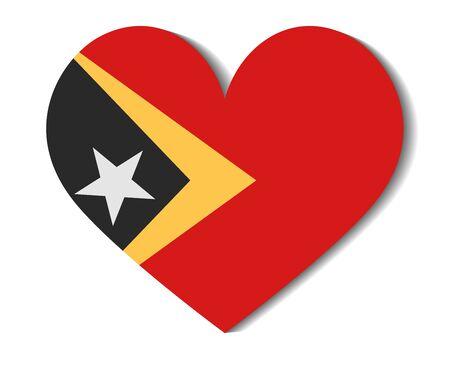 east: heart flag east timor