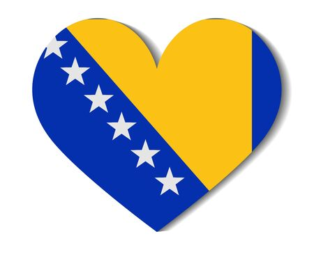bosnia and herzegovina: heart flag bosnia and herzegovina