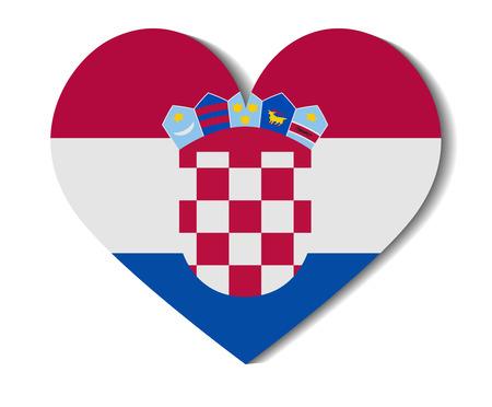 croatia: heart flag croatia