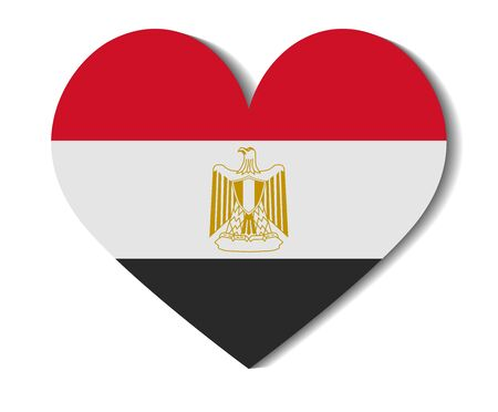 flag of egypt: heart flag egypt Illustration