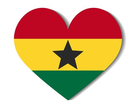 ghana: heart flag ghana Illustration