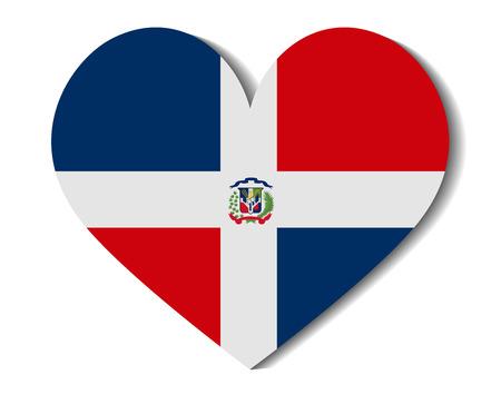 dominican: heart flag dominican republic