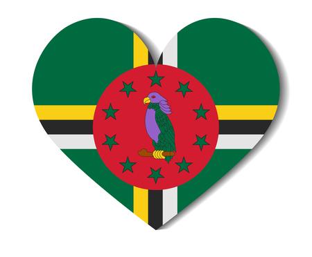 heart flag dominica Illustration